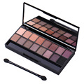 20 Colors Smokey Glitter Eye Shadow Palette Makeup Kit Pro Matte Eyeshadow Blusher Shade Powder & Cosmetic Brush Set Maquiagem