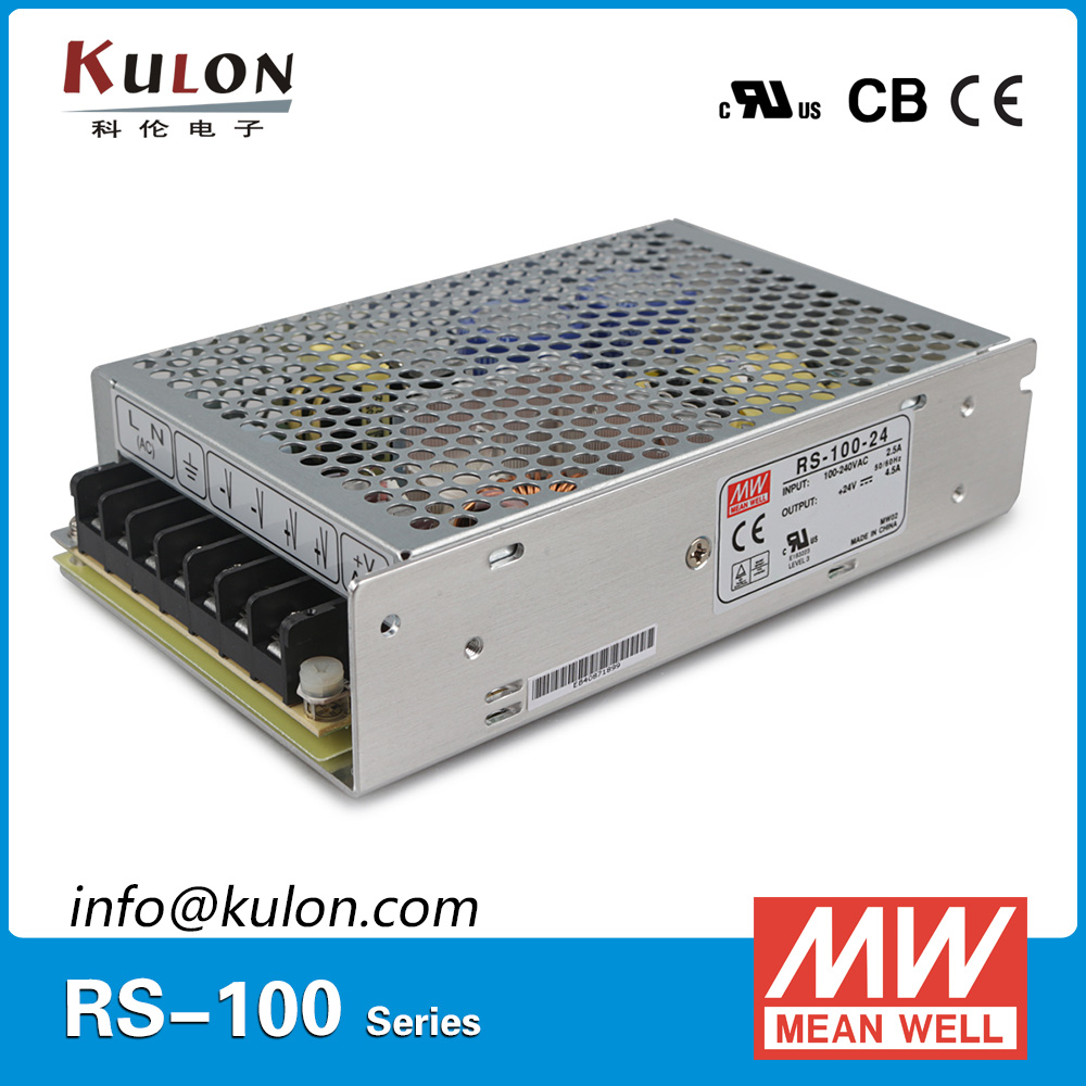 Original Mean Well RS-100-48 single output 100W 2.3A 48V ac to dc meanwell Power Supply CB UL CE approved [powernex] mean well original rs 100 24 meanwell rs 100 single output switching power supply