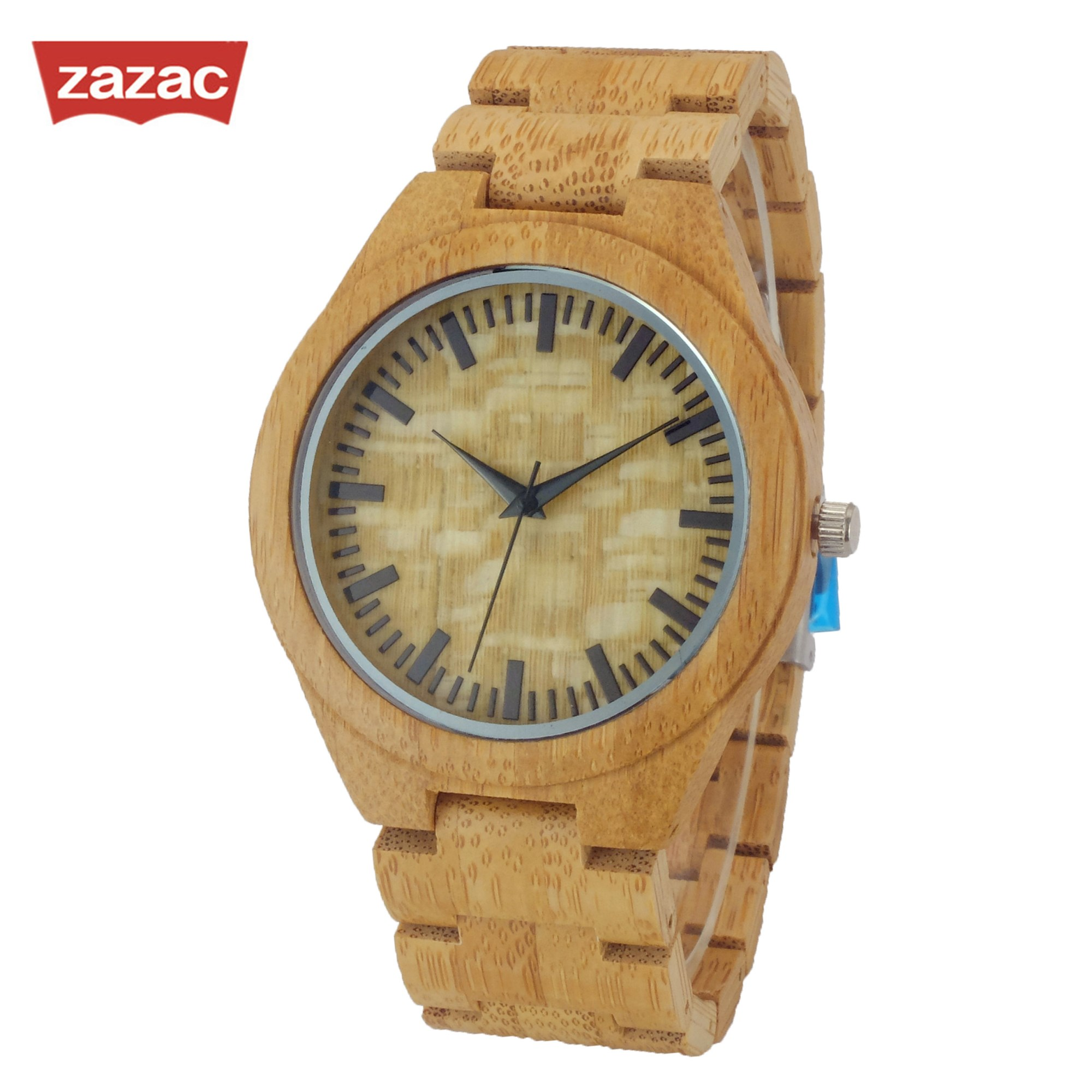 zazac brand mens watch full bamboo wristwatches casual. Black Bedroom Furniture Sets. Home Design Ideas