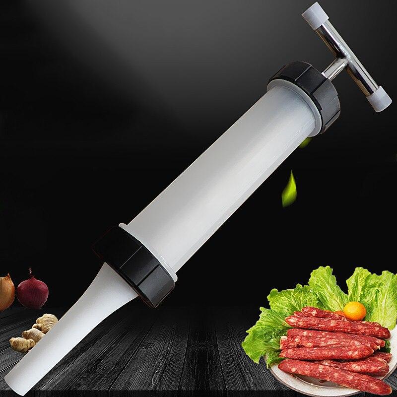 Manual do Fabricante de Salsichas Seringa Bocal Da Máquina De Carne de Salsicha Stuffer Salsicha Enchimentos Carne Cozinha Funil de Enchimento Máquinas
