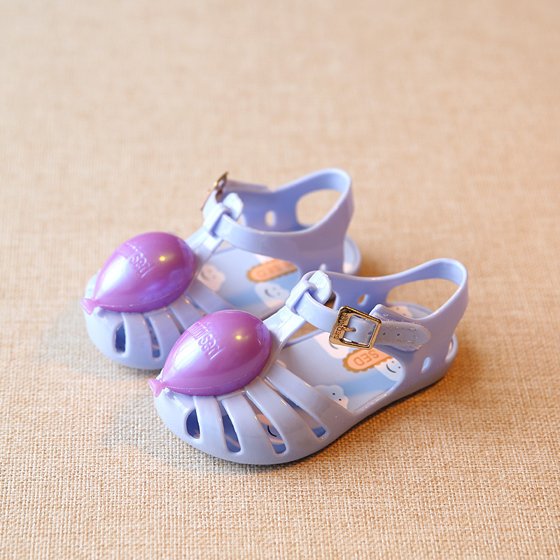 Toddler Baby Kids Girls Jelly Hollow Sandals Shoes Flat Beach Princess Shoes