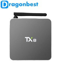 New TX8 Android 6.0 Amlogic S912 Octa core Set top box 2G 32G Android TV Box HDMI H.265 WIFI Media Player Smart tv box