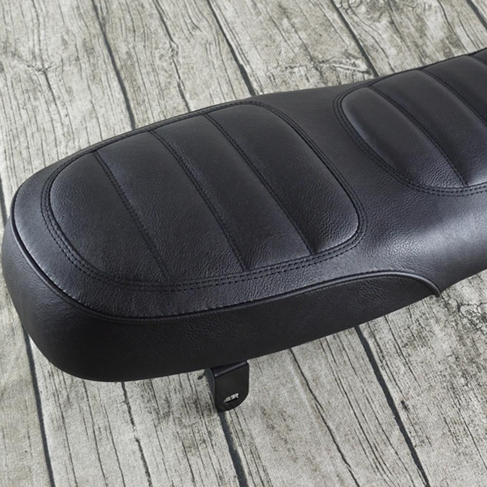 New Arrival 1pc Black Motorcycle Cafe Racer Seat Scrambler Vintage Flat Saddle Flat Pan Retro Seat For U 200 250 Mayitr