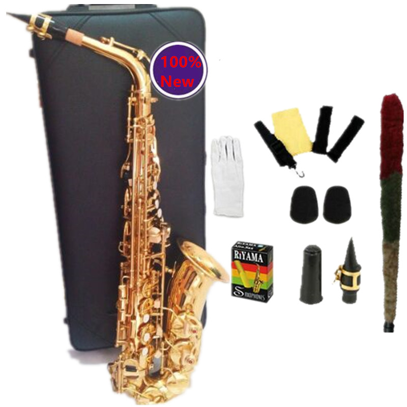 100% Japan YAS-62 Sax High Quality Alto Saxophone E flat Gold Saxofone Musical Instruments Professional performances With Case new high quality hot sale saxophone alto engraved brass selmer 802 model saxofone gold sax musical instruments professional sax