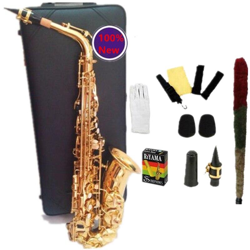 100% Japon YAS-62 Sax Haute Qualité Alto Saxophone E plat Or Saxofone Instruments de Musique Professionnel performances Avec Cas