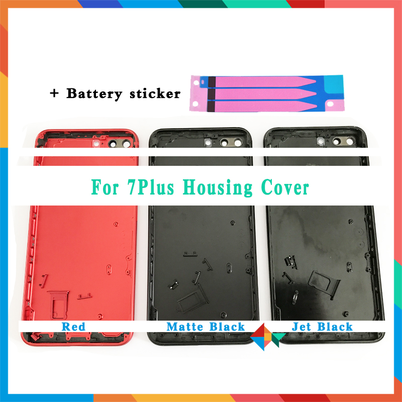 High Quality For Iphone 7 7G / 7 Plus Battery Cover Back Housing Cover Rear Door Chassis Middle Frame + Battery Sticker