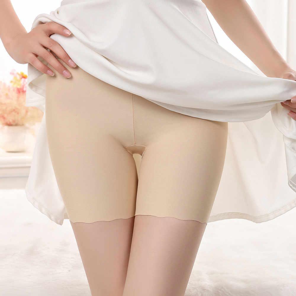 Mulheres Shorts Calças de Segurança Sem Costura Underwear Calções feminino ângulo anti-sob a luz de segurança saia calças curtas senhoras lengerie mujer