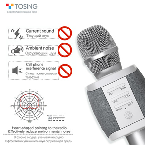 Image 4 - 2020 New most popular professional bluetooth  Handheld Wireless karaoke microphone for cell phone /TV singing support TF card