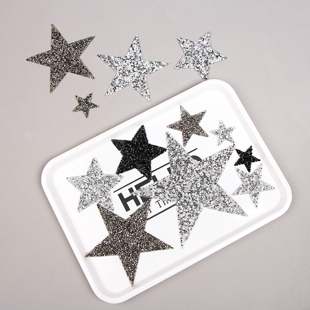 1PC Multiple Sizes Crystal Rhinestone Star Shape Patches Iron on Clothes  Bag Appliques Badge Stripes Diamond Pentagram Patches-in Patches from Home    Garden ... d6087c094f9f