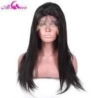 Али Коко 130% плотность полный Кружево Искусственные парики с ребенком волос бразильского прямо 8 24 дюймов натуральный Цвет