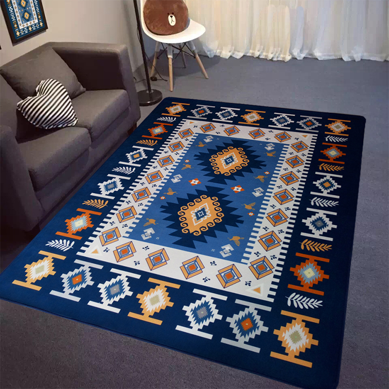 Mediterranen stil teppich linter bett schlafzimmer stilvolles ...