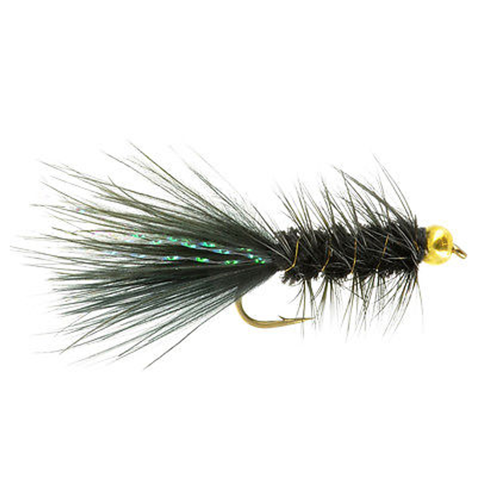 6pcs Aventik BH Wooly Bugger Black Flies Dry Trout Fly Flies Various Size Fish Flies