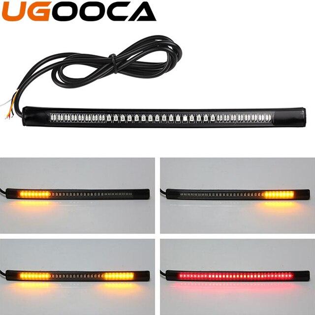 Flexible Auto Motorrad Bremslicht 48LED Kennzeichenbeleuchtung Rot ...