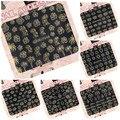 Ver detalle HBJY037-048 r 12 unidades surper 3d uñas uñas etiquetas engomadas del arte del COLOR del oro