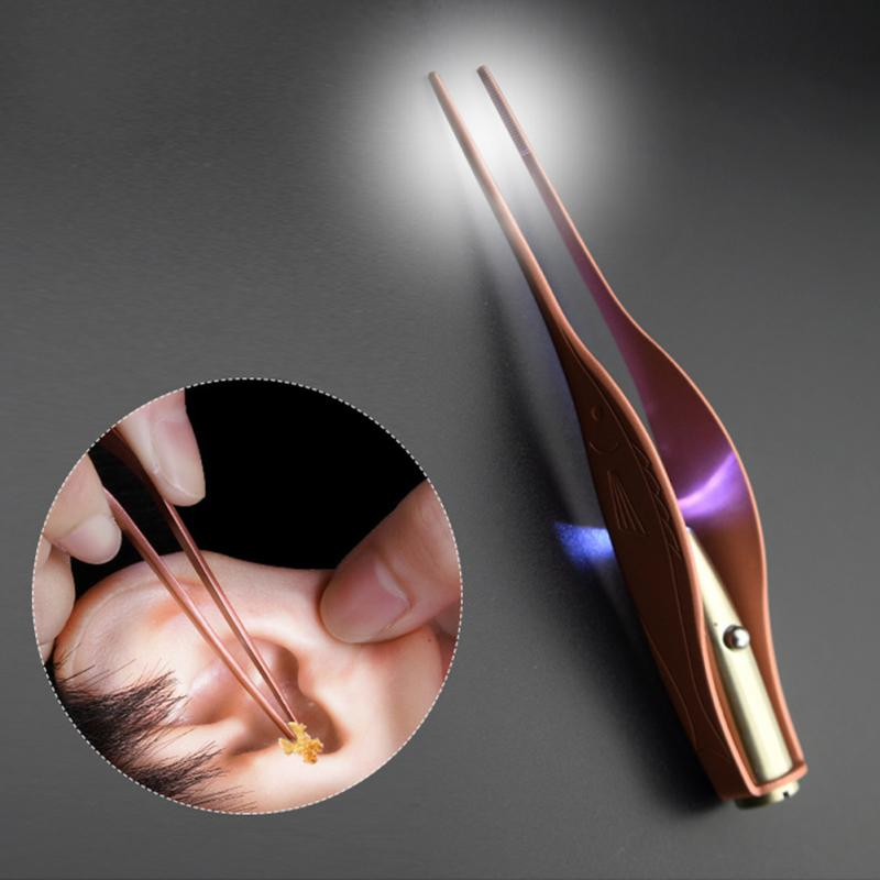 2018 New Upgrade Practical Tweezers Light Cleaning Tools Children Ear Picking Tool Tube Ear Spoon Glowing #
