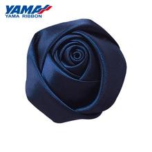 YAMA Single Face Satin Ribbon Bud Rose Diameter 40mm±5mm 100pcs/bag for Girl Dress Gift Flower Diy Toy Wedding Decoration
