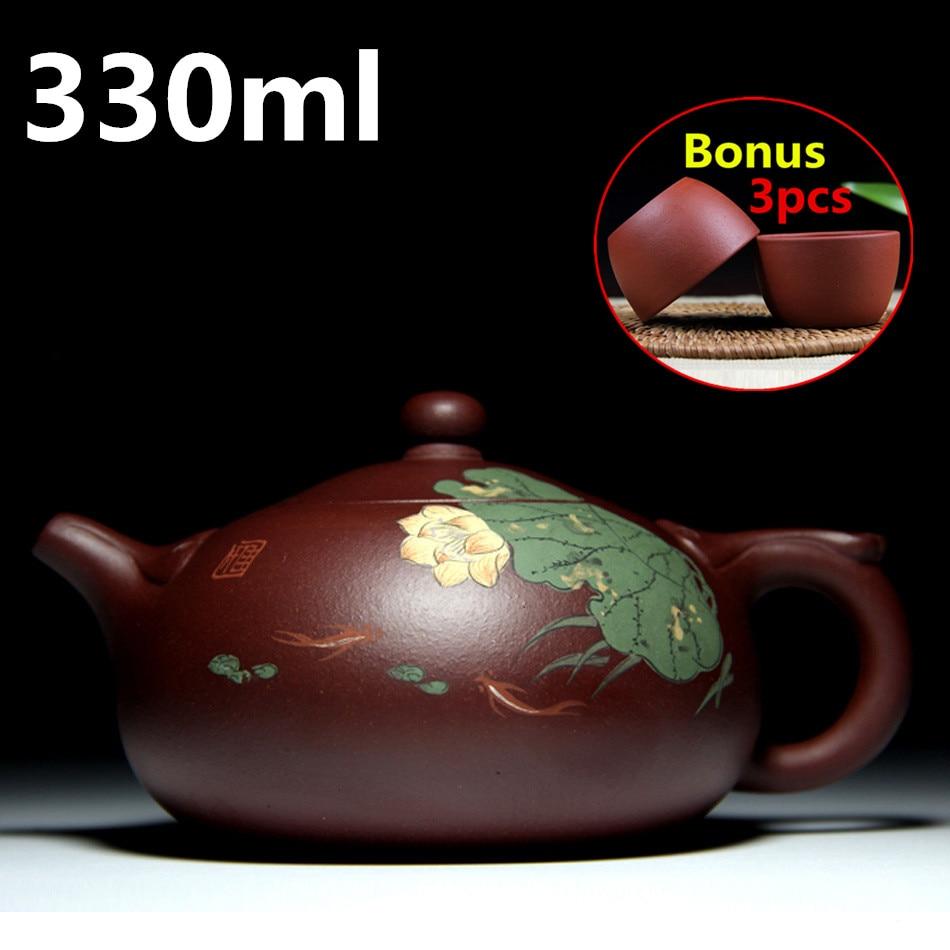 Christmas Old China Yixing Zisha Pottery Carved Dragon Beast Teapot Tea Set Pot Tea Maker Halloween Distinctive For Its Traditional Properties Statues & Sculptures