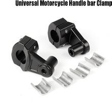 Motorcycle Bar Clamps Raised Handlebar Handle Risers for 22MM 7/8-28MM 1 1/8 Honda Kawasaki Ducati Yamaha ktm