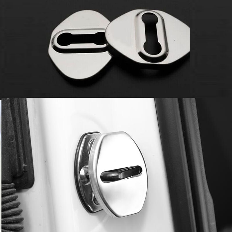 For Toyota levin Camry Corolla EX Vios RAV4 stainless steel Car door lock locker buckle cover Protector decoration