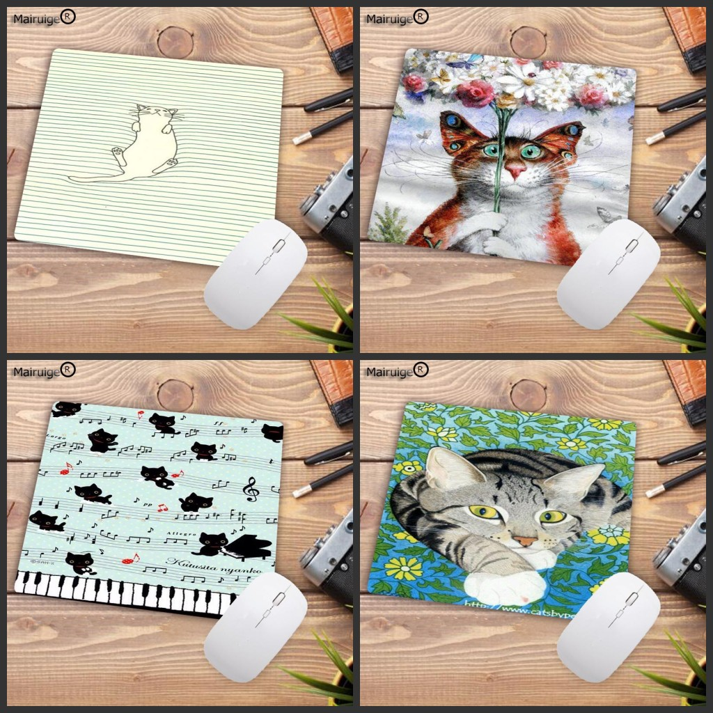 Mairuige Unique Design Cute Cat Animal Mouse Pad Computer Gaming Mouse Pad Play Mats The Best Choice For S 22X18CM 25X29CM