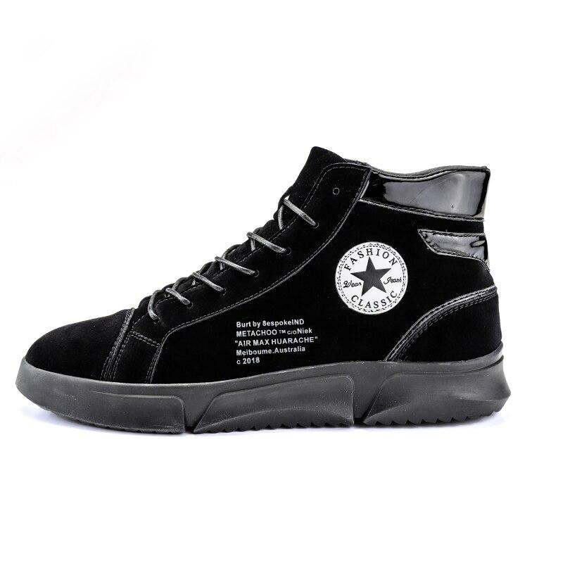 Sneakers Quente Flats Tornozelo Pelúcia Hombre De Plataforma Moda Pele Novos Neve Zapatos Sapatos Homens Botas Nubuck Algodão Inverno Da Couro wPq6g6IRc7