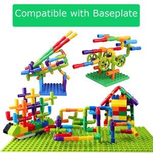 Image 3 - Creatività Tubo Blocchi di Costruzione Assemblaggio Giocattolo per I Bambini Educational Tunnel Modello di Blocco di Mattoni