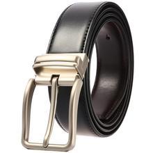 цена на Trending Leather Belt Pin Buckle Retro Men Belt for Men Cow Genuine Leather Waist  Strap Designer Belts Male Ceinture Homme