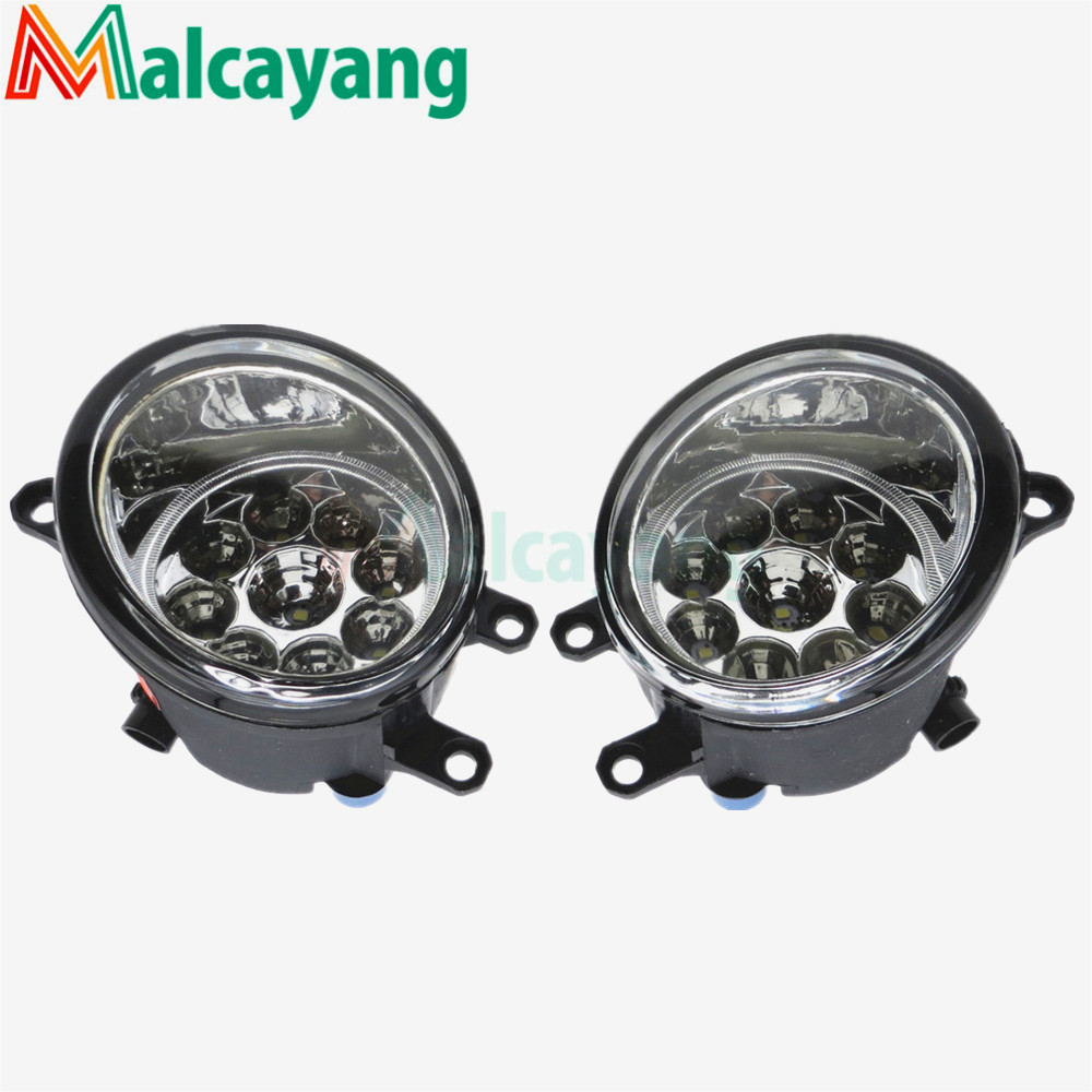 Front Bumper High Brightness LED Fog Lights Car styling For toyota AURIS 2007- 1 set (Left + right) 81210-06052 front fog lights lamp bumper lights for toyota auris hybrid touring sports 2014 2015