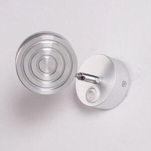 Image 4 - Светодиодная настенная лампа AC85 265v 5 Вт, Современная прикроватная лампа для спальни, регулируемый настенный светильник с углом поворота, лампы для чтения с переключателем