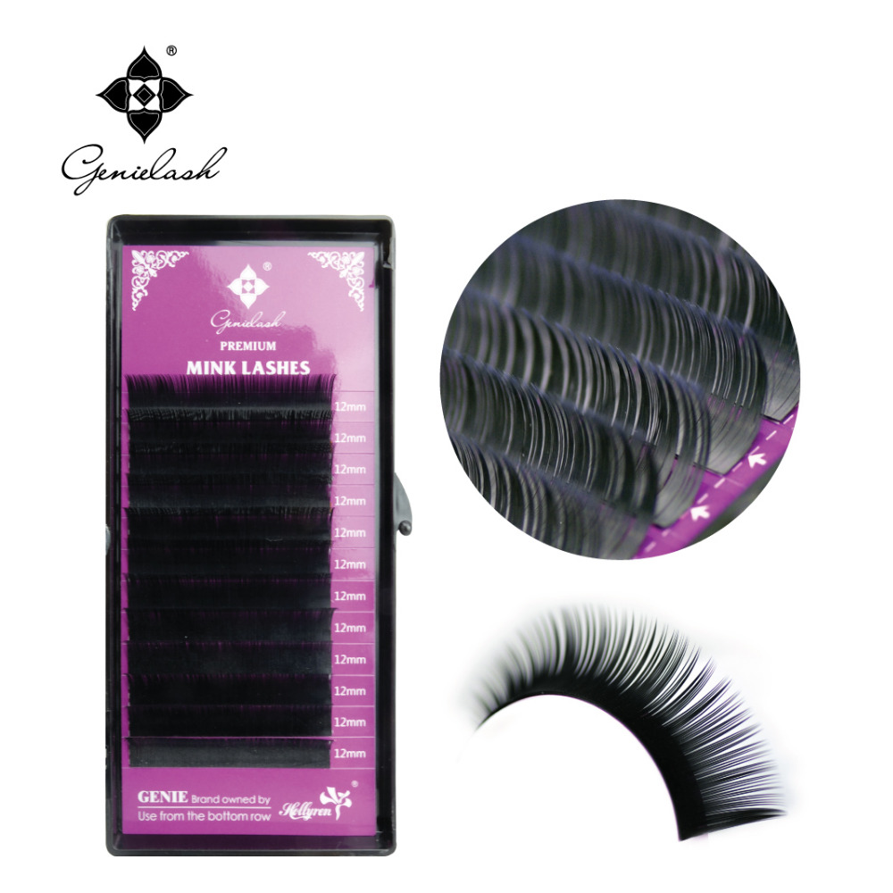 GENIELASH individual eyelash extension handmade premium Mink eyelashes extension supplies 10Pcs Lot