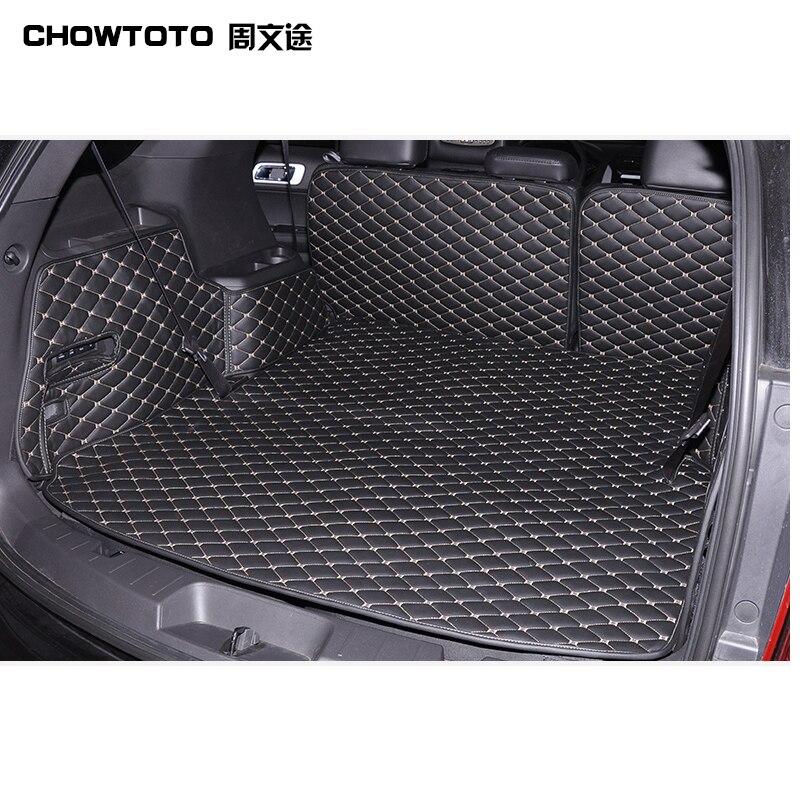 CHOWTOTO Personalizado Esteiras Tronco Especial Para Ford Explorer 5 assentos Tapetes À Prova D' Água Durável Para Explorer