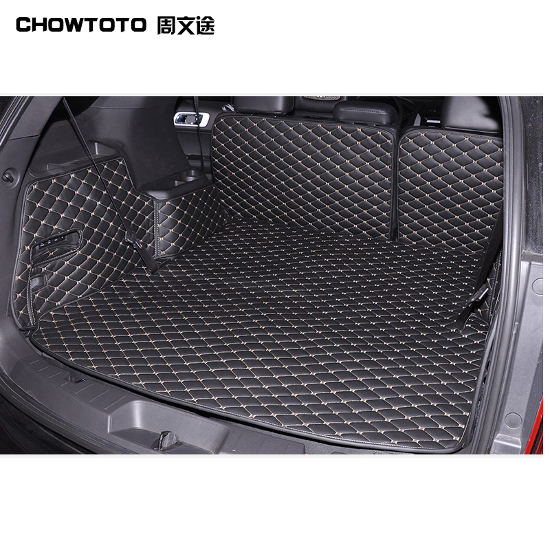 CHOWTOTO Custom Special Trunk Mats For Ford Explorer 5seats Durable Waterproof Mats For Explorer trunk mat for ford mondeo 2008 2014 durable waterproof luggage mats tray for dogs