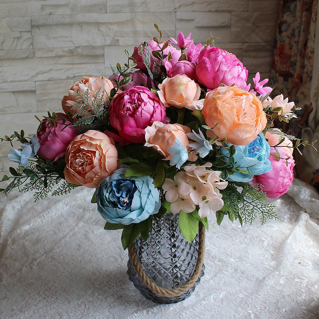 Good Quality Peony Flowers European Fake Flowers Vintage Artificial
