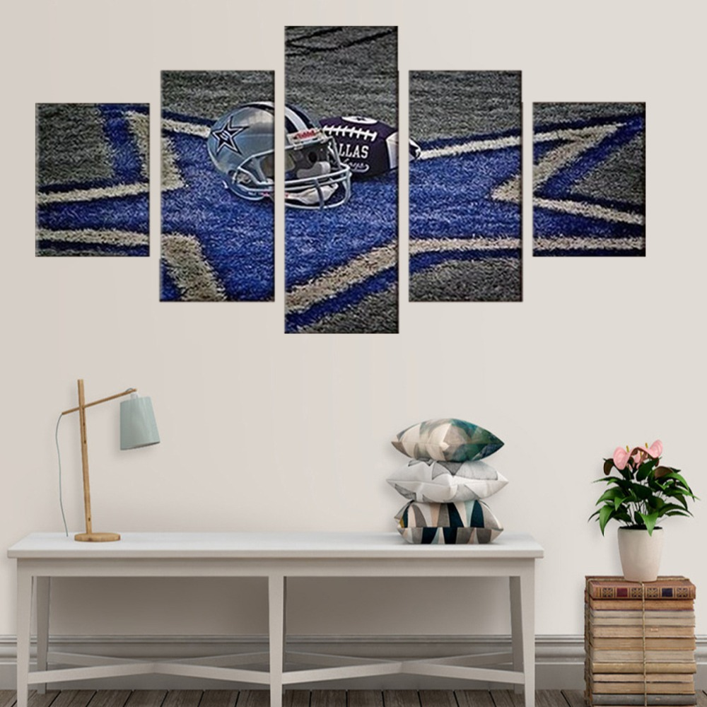 5 Pieces Canvas Painting Dallas Cowboys