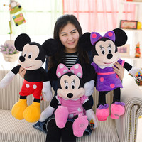 Miaoowa New 60CM Mickey Or Minnie Mouse Plush Toy Doll For Kids Baby Christmas Gift Cute