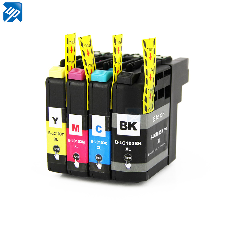 5 шт. LC103 совместимый чернильный картридж для принтера brother J152W J245 J285DW J450DW J470DW J475DW J650DW J870DW J875 J4310 J4410 J4510