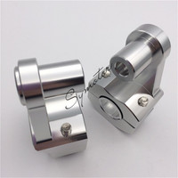 Silver Universal Anodized 2 Inch Pivoting Motorcycle Handlebar Riser For 7 8 22mm And 1 1