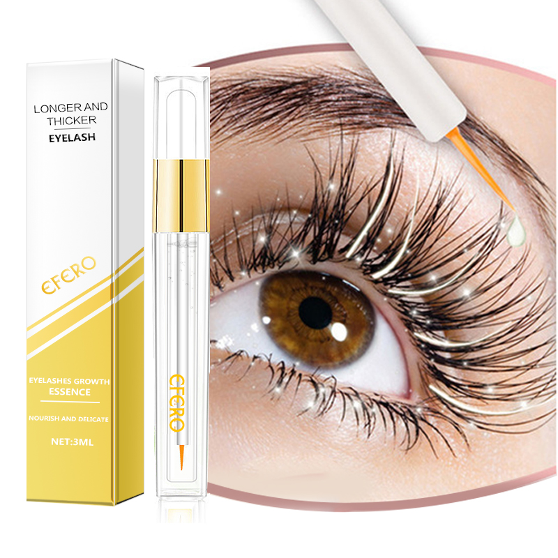 Curling Eyelash Growth Serum Eyelash Enhancer Longer Thicker Lashes Extension Eyelashes Eyebrows Enhancer Essence Eye Care EFERO
