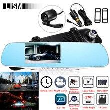 170 градусов 1080 P HD Автомобильный dvr широкий обзор фронтальная камера заднего вида DVRs автомобильное зеркало Smart Dash камера видеорегистратор Cam зеркало заднего вида комплект