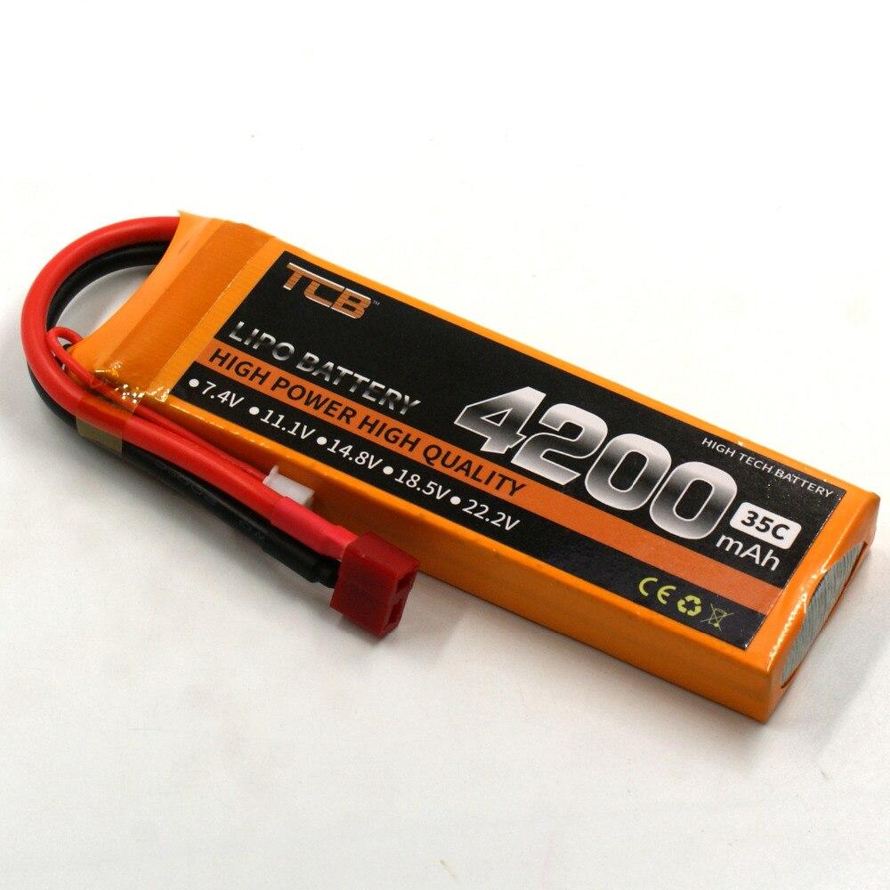 Nouvelle D'origine Rechargeable Lipo batterie 2 S 7.4 V 4200 mAh 35C pour RC avion Voiture beteau Voiture De Rechange AKKU batterie LiPo 2 s