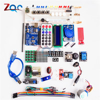 1 set For Arduino UNO R3 Starter Kit Basic Learning Suite Kit Upgraded Stepper Motor LCD1602 LED LCD Jumper Wire For Arduino ONE