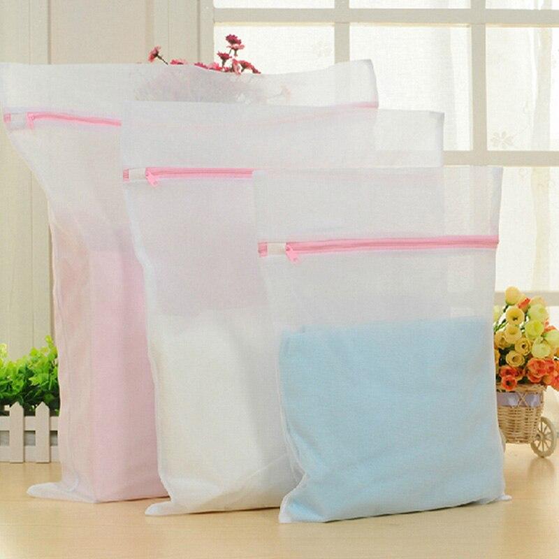 Zipped Underwear Bra Clothes Aid Socks Laundry Washing Machine Net Mesh Bag HOT