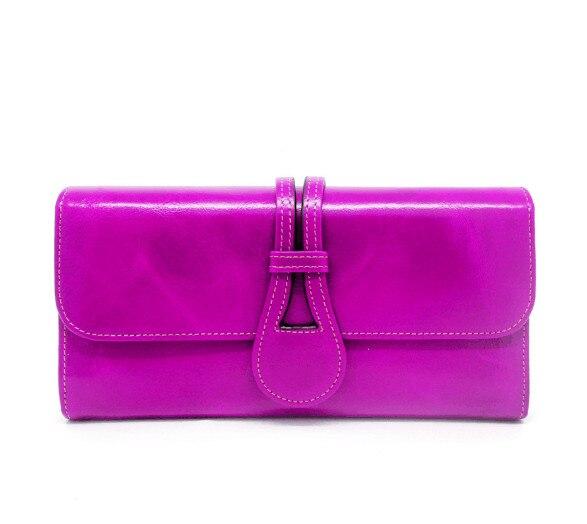 sólida carteira longa bolsa para as mulheres