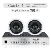 Power Amplifier Ceiling Speaker Background Music Embedded Speaker Bluetooth Power Amplifier 8Ohm Coaxial Horn