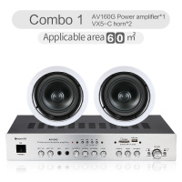 Power Amplifier Ceiling Speaker Background Music Embedded Speaker Bluetooth Power Amplifier 8Ohm Coaxial Horn