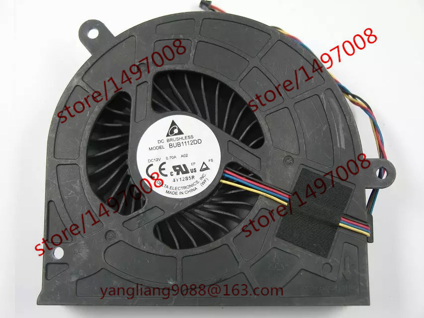 Delta BUB1112DD DC 12V 0 70A 4 Wire Server Cooler Fan
