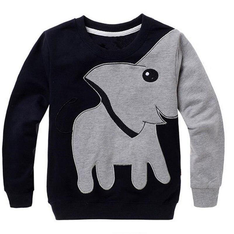 2017 одежда для малышей Обувь для девочек Одежда для мальчиков слон Блузка с длинными рукавами Джемпер рубашка D50 ...