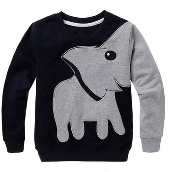 2017 Toddler Baby Girls Boys Clothes Elephant Long Sleeve Blouse Tops Sweater Shirt D50