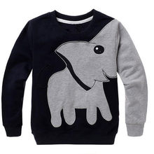 2017 Toddler Baby Girls Boys Clothes Elephant Long Sleeve Blouse Tops Sweater Shirt D50(China)