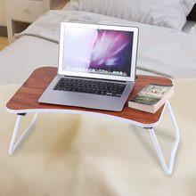 Fashion Portable Folding Aluminum alloy Laptop Table Sofa Bed Office Laptop Stand Desk Computer Notebook Bed Table Drop Shipping(China)